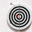 Dartboard with three arrows — Stock Photo #2098436