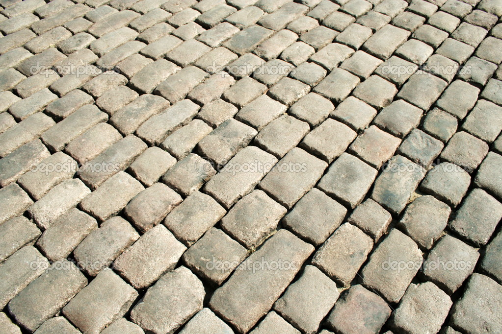 Series of the textures (stoneblock pavement 2)  Stock Photo #2098183