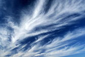 Fleecy clouds — Stock Photo