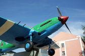 Propeller-driven war-plane. — Stock Photo