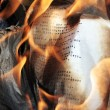Burning paper - Stock Photo