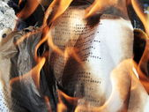 Burning paper — Stock Photo
