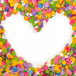 Heart shape confetti — Stock Photo