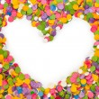 Stock Photo: Heart shape confetti