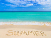 Word Summer on beach — Stock Photo
