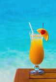 Orange cocktail on table — Stock Photo
