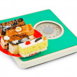 Royalty-Free Stock Photo: Cakes on weight scale