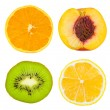 Set of fruit slices — Foto Stock