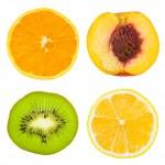 组的水果切片 — 图库照片