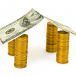 Royalty-Free Stock Photo: House made of money