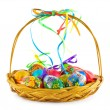 Basket with Easter eggs — Stock Photo #1181696
