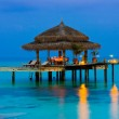 Water cafe at evening — Stock Photo #1182184