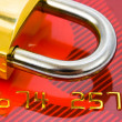 Lock and credit card - Stock Photo