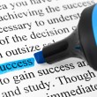 Highlighter and word success — Stock Photo