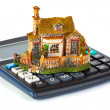 Royalty-Free Stock Photo: Calculator and house