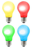 Set of multicolored lamps — Stock Photo