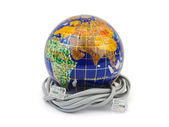 Globe and cable — Stock Photo