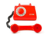 Telephone and receiver — Stockfoto