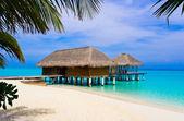 Spa salon on beach — Stock Photo