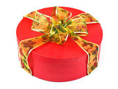 Box with bow — Stock Photo