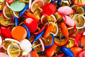 Heap of multicolored pins — Stock Photo