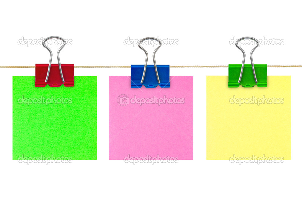 Multicolored post-it note paper isolated on white background — Stock Photo #1184693