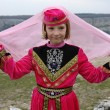 The girl in the Tatar dress — Stock Photo
