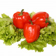 Red pepper on salad — Stock Photo