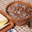 Boiled buckwheat - Stock Photo