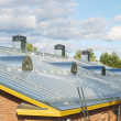Steel pitched roof - Foto Stock