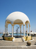 Mandraki embankment pavilion — Stock Photo