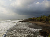 Tanah Lot stormy sunset — Stock Photo