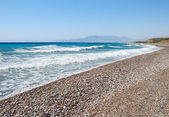 Rhodes Aegean Sea Coastline. — Stock Photo