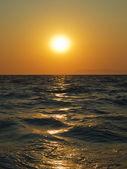 Aegean sea sunset — Stock Photo