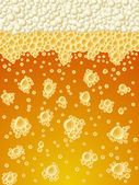 Foamy beer vector background — Stock Vector