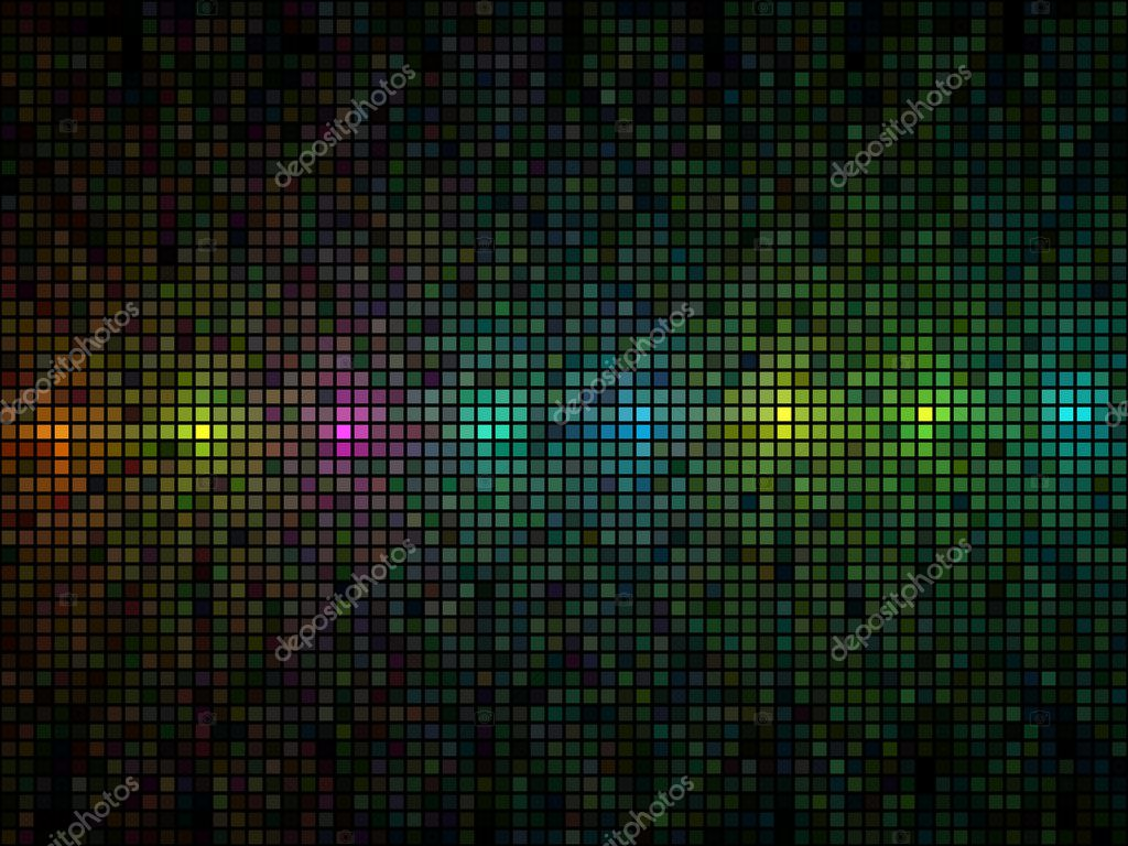 Abstract multicolor lights disco tile vector background.   #1267352