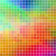 Stock Vector: Multicolor mosaic background