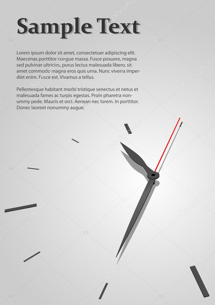 Austere time concept vector background with copyspace for title page.  Stock Vector #1273593