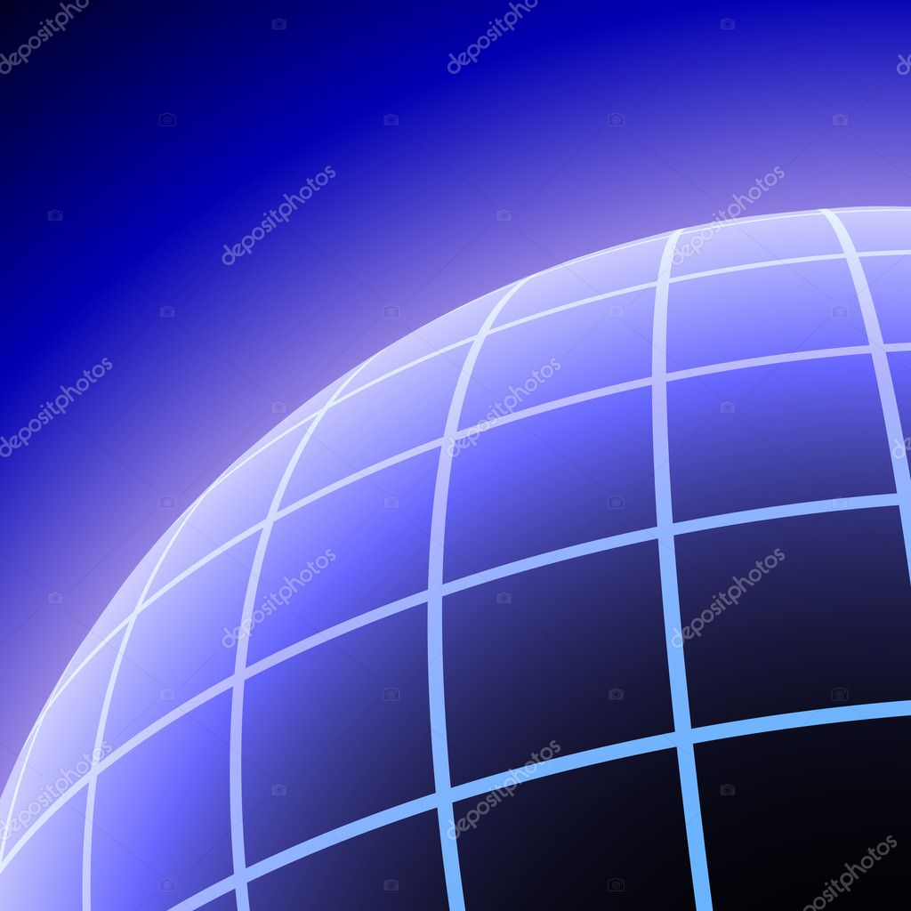 Abstract meshed planet  vector background with copy space. — Stock Vector #1273623