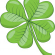 Royalty-Free Stock Vector Image: Four leaf clover.