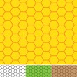 Vector de stock : Bee cells