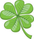 Four leaf clover. — Stock Vector