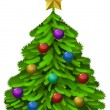 Decorated Christmas tree — Imagen vectorial