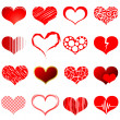 Red heart shapes - Stockvectorbeeld