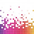 Rainbow square mosaic — Stock Vector