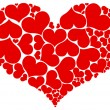 Royalty-Free Stock Vector Image: Many hearts in heart form