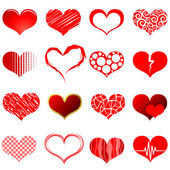 Red heart shapes — Vettoriale Stock