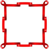 Red ribbon frame — Stock Vector