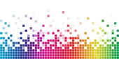 Rainbow square mosaic — Stock Vector