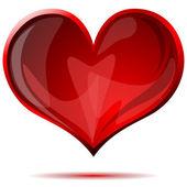 Coração de vidro — Vetor de Stock